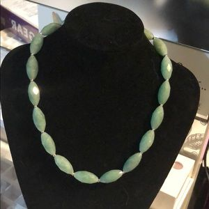 Jewelry - Faceted Jade Necklace NWT
